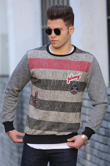 Madmext Grey Sweater 1691