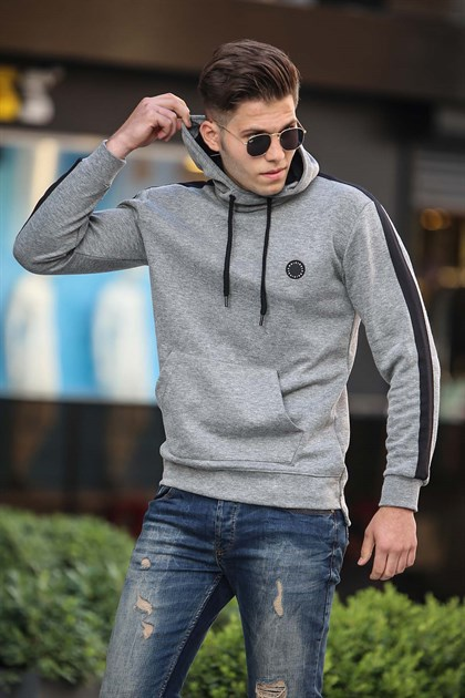 Madmext Grey Basic Sweatshirt 4165