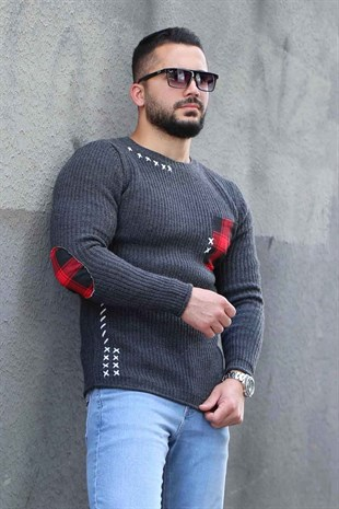 Madmext Dark Grey Rapped Crewneck Jumper 2771