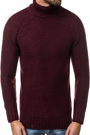 Madmext Claret Red Crewneck Jumper 2804