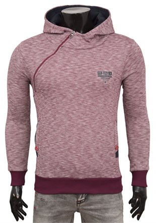 Madmext Bordo Kapşonlu Sweatshirt 1633