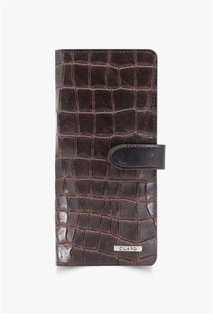 GUARD Brown Patterned Portfolio Wallet GRD3032