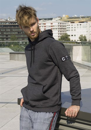Kangaroo pocket Black Hoodies 2753