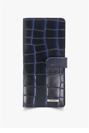 GUARD Navy Blue Patterned Portfolio Wallet GRD3032