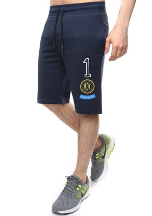Madmext Casual Navy Blue Shorts 2411