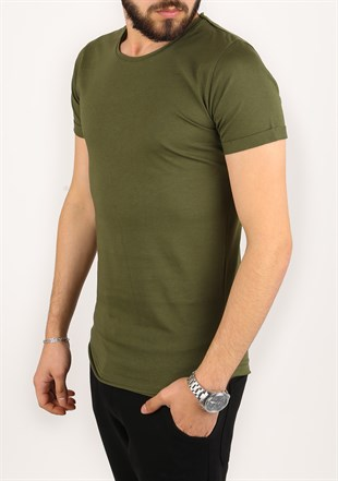 Madmext Basic Khaki T-Shirt 2280