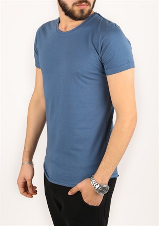 Madmext Basic Blue T-Shirt 2280