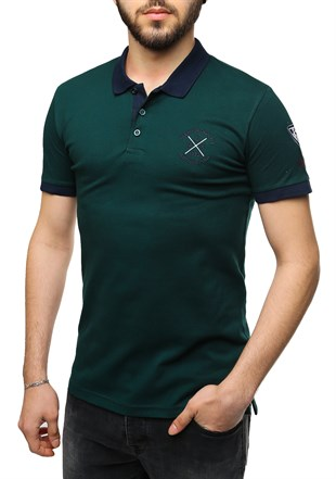 Madmext Green Polo Shirt 2346