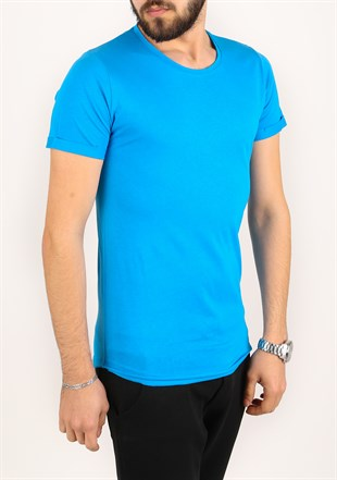 Madmext Basic Saks T-Shirt 2280