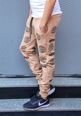 Madmext Patterned Camel Joggers 2075