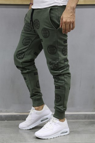 Madmext Patterned Khaki Joggers 2075