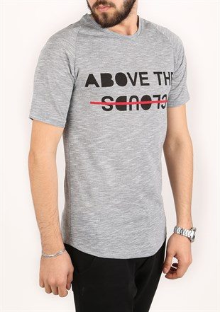 Madmext Printed Grey T-Shirt 2320