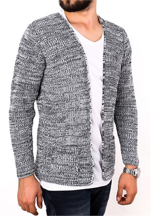 Madmext White Knitting Cardigan 1569