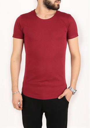 Madmext Claret Red T-shirt for Men 2297