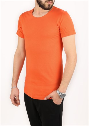 Madmext Basic Orange T-Shirt 2297