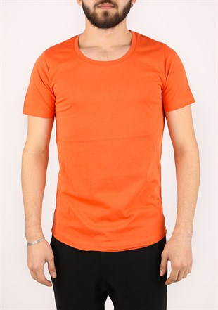 Madmext Basic Orange T-Shirt 2308
