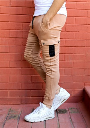 Madmext Slim Fit Camel Joggers 2071