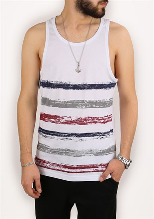Madmext White Printed T-shirt for Men 1697