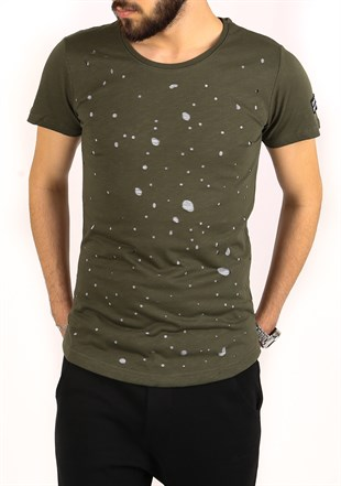Madmext Khaki Rapped T-shirt for Men 2266