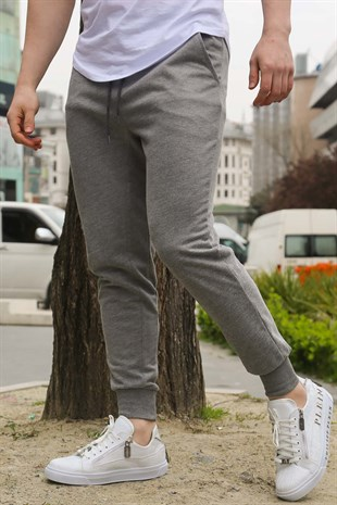 Madmext Dark Grey Basic Sweatpants 2903