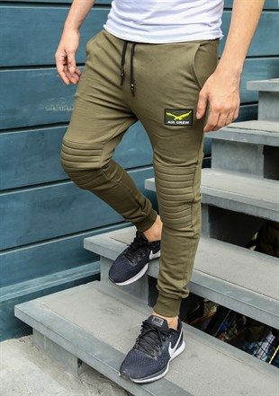 Madmext Slim Fit Khaki Joggers 2089