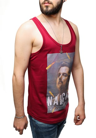 Sleeveless T-Shirt In Printed