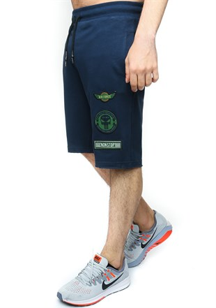 Madmext Men Daily Navy Blue Shorts
