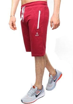 Madmext Burgundy Casual Shorts 2419
