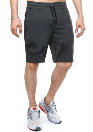 Madmext Patterned Smoked Fitness Shorts 2415