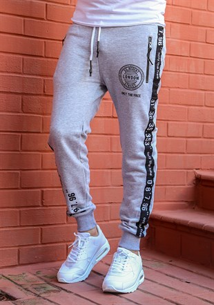 Madmext Striped Grey Joggers 2085