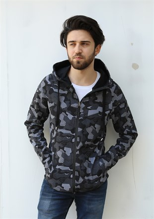 Madmext Camouflage Hooded Sweatshirt 2064