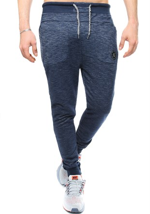 Madmext Slim Fit Navy Blue Joggers 2077