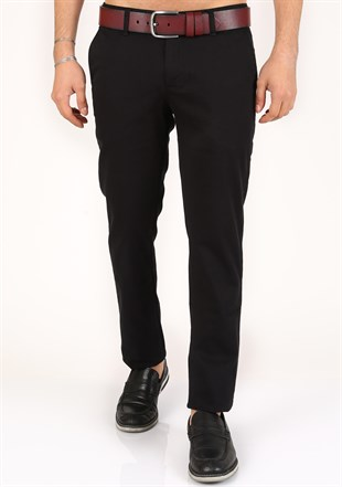 Madmext lycra Gabardine Black  Pants 2049