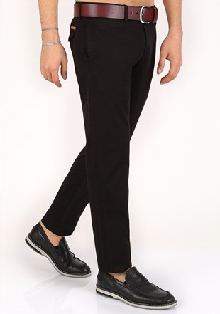 Madmext lycra Gabardine Black Pants 2055