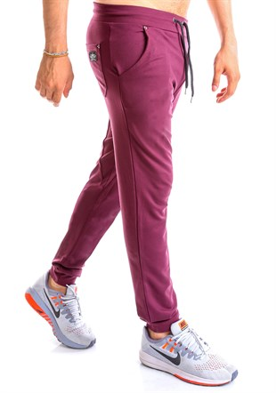 Madmext Slim Fit Jogger In Burgundy