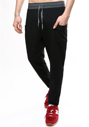 Madmext Casual Black Joggers 1825