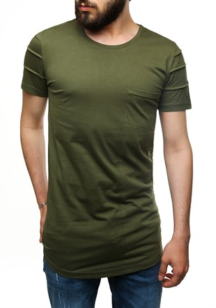 Madmext Printed Khaki T-Shirt 2575