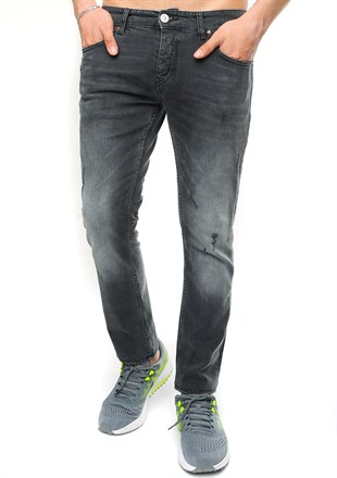 Slim Fit Füme Jean Pantolon 3485