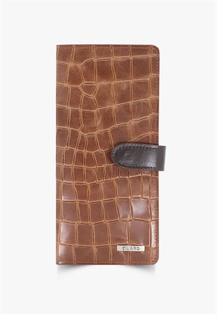 GUARD Tan Patterned Leather Portfolio Wallet GRD3032