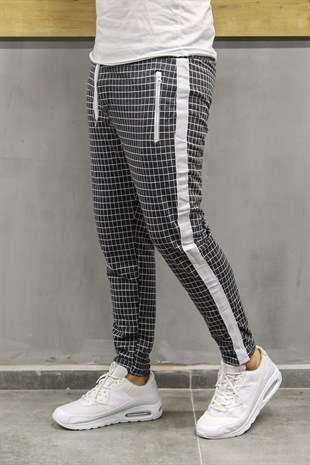 Madmext Striped Anthracite Jogger 2703