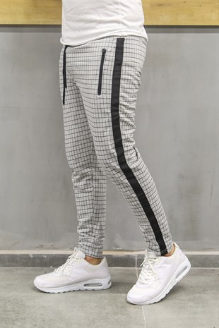 Madmext Striped Grey Jogger 2703