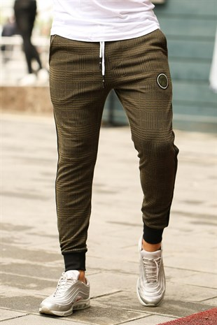 Mens Sweatpant In Plain Design Khaki Color 2710