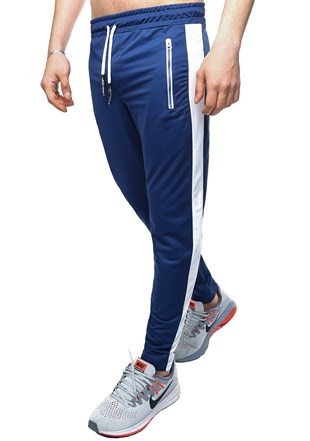Madmext Striped Blue Joggers 2420