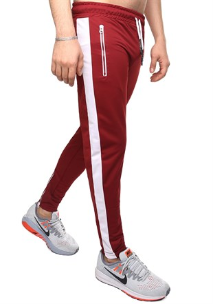 Madmext Striped Red Joggers 2420