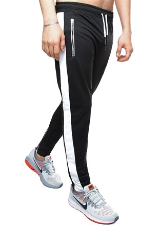 Madmext Striped Black Joggers 2420
