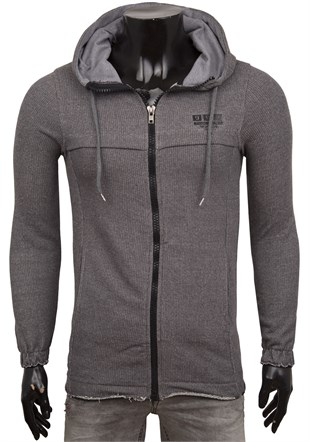 Smoked Casual Zip Front Hoodie 1639