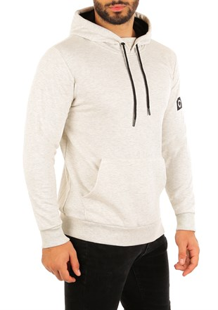 Kangaroo pocket White Hoodies 2753