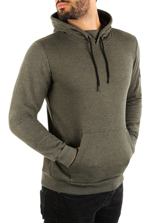 Kangaroo pocket Khaki Hoodies 2753