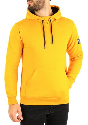 Kangaroo pocket Yellow Hoodies 2753