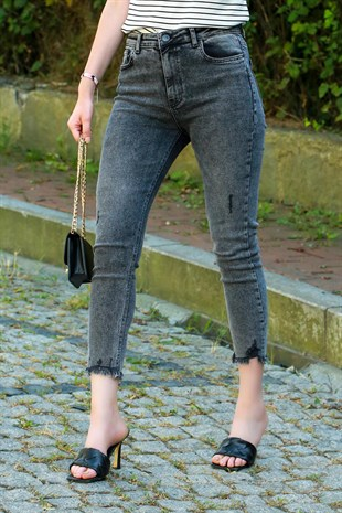 Mad Girls Grey Rapped Jean MG243